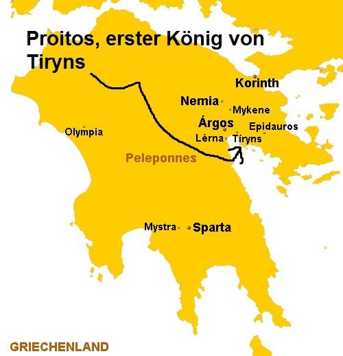Proitos (Mythologie): Erster König von Tiryns Proito10