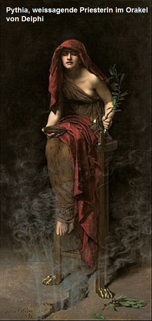 Pythia (Mythologie): Priesterin im Orakel von Delphi Pythia10