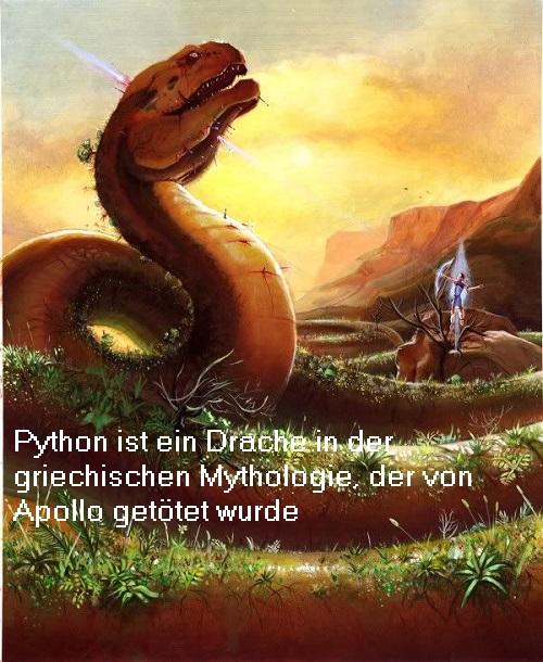 Python (Mythologie): Drache, der von Apollo getötet wurde Python10