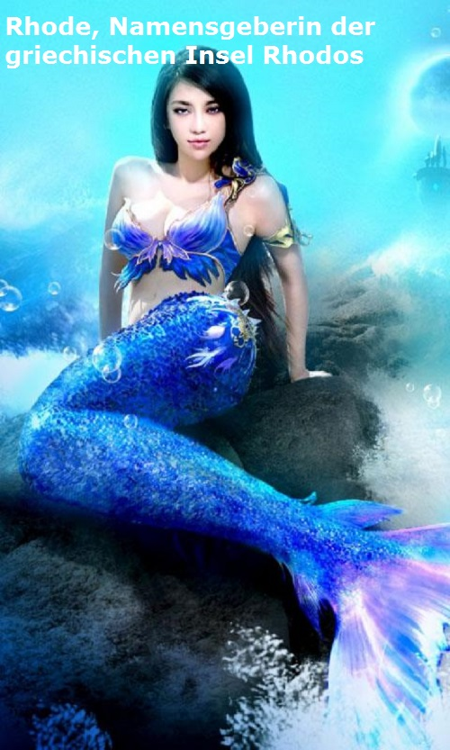 Rhode (Mythologie): Halbgöttin, Namensgeberin der Insel Rhodos Rhode10