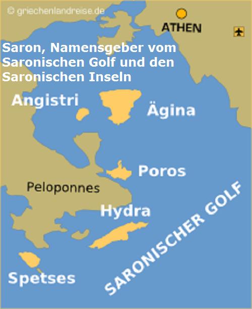 Saron (Mythologie): Namensgeber vom Saronischen Golf und den Saronischen Inseln Saron10