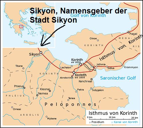 Sikyon (Mythologie): Namensgeber der Stadt Sikyon Sikyon10