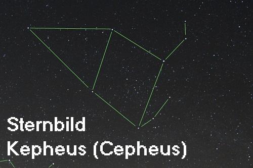 Kepheus: Sohn des Belos, heute als Sternbild am Himmelszelt Sternb10