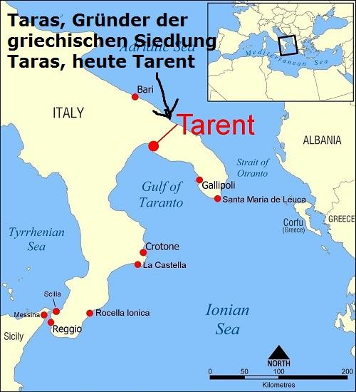 Taras (Mythologie): Gründer der griechischen Siedlung Taras Taras11
