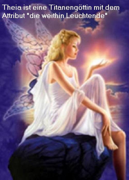 Theia: Die weithin leuchtende / strahlende Titanin, Tochter von Uranos und Gaia Theia210