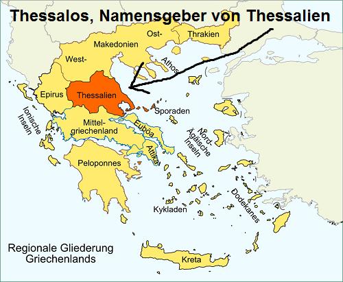 Thessalos (Mythologie): Namensgeber der Landschaft Thessalien Thessa10