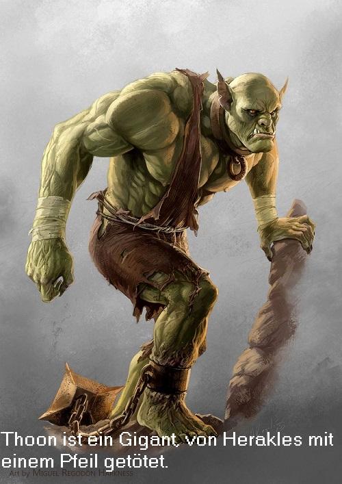 Thoon (Mythologie): Gigant aus dem Mythos der Gigantomachie Thoon10