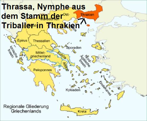 Thrassa (Mythologie): Nymphe aus dem Stamm der Triballer in Thrakien Thrass10