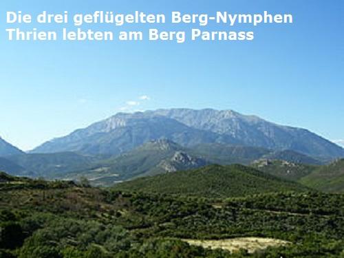 Thrien (Mythologie): Drei jungfräuliche, geflügelte Berg-Nymphen am Parnass Thrien10
