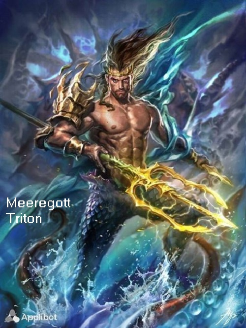 Triton (Mythologie): Meeresgott, Begründer vom Geschlecht der Tritonen Triton10