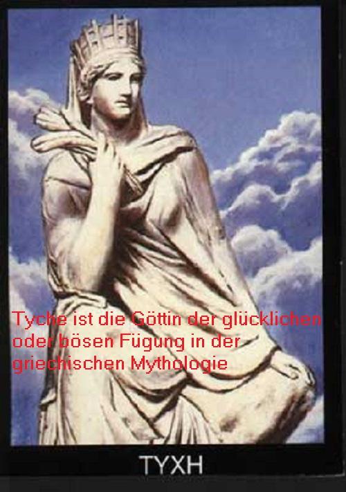Tyche (Mythologie): Göttin der glücklichen oder bösen Fügung und vom Zufall (Schicksal) Tyche10