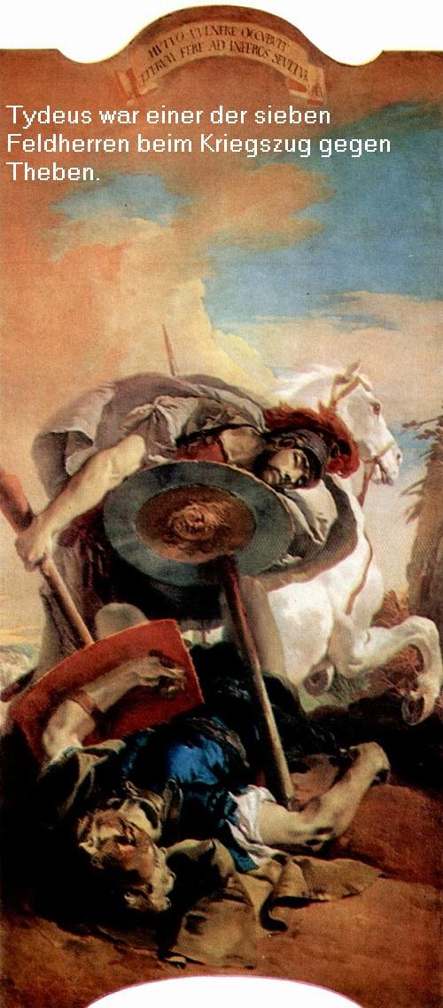 Tydeus (Mythologie): Einer der sieben Feldherren beim Kriegszug gegen Theben Tydeus10