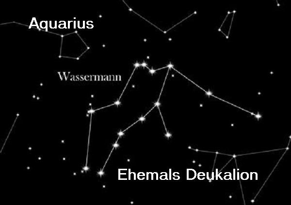 Deukalion (Mythologie): Hat die deukalionische Flut überlebt und befindet sich heute als Wassermann am Firmament Wasser11