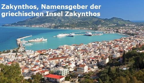 Zakynthos (Mythologie): Namensgeber (Eponym) der griechischen Insel Zakynthos Zakynt11