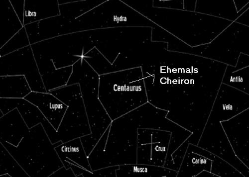 Cheiron (Mythologie): Besonders berühmter Kentaur, mit den Göttern befreundet, hat zahlreiche Helden ausgebildet Zentau11