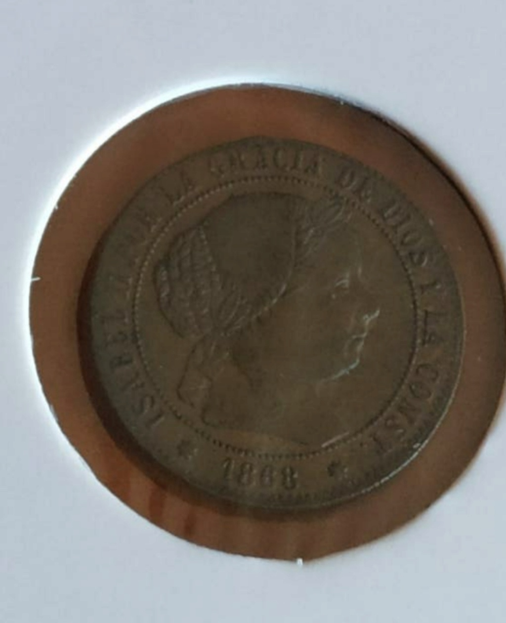 1/2 céntimo de escudo 1868. Isabel II. Barcelona. Buena compra?  20200413