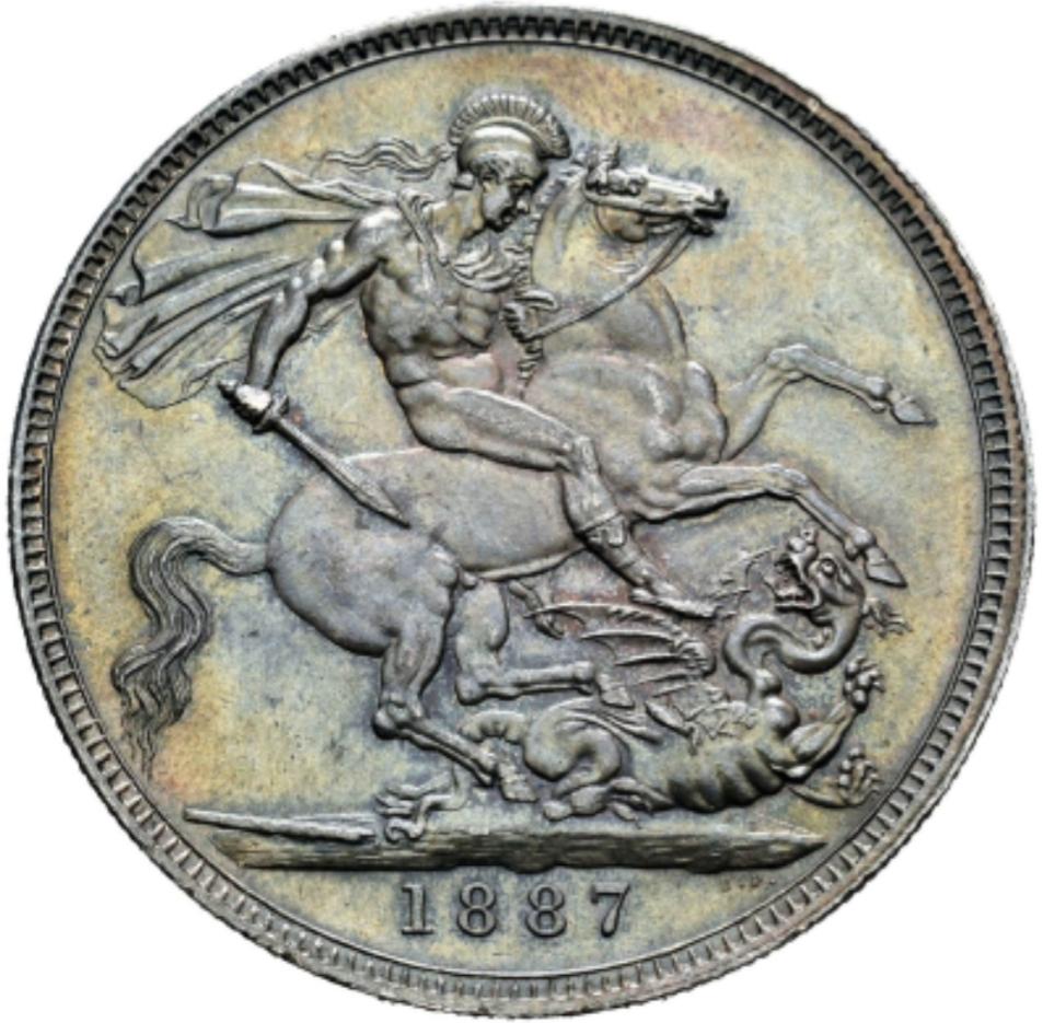 1 Corona 1887 Gran Bretaña 20200425