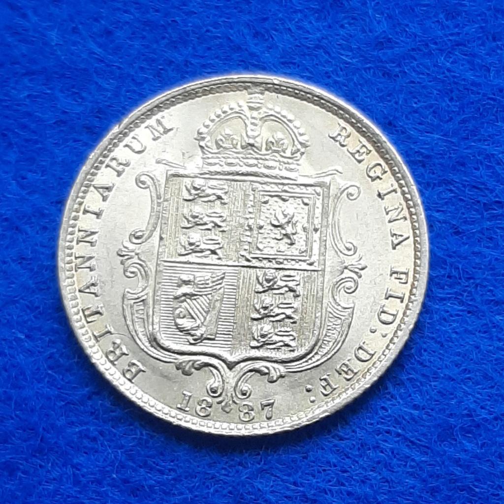 1/2 libra soberana 1887 Reino Unido 20200617