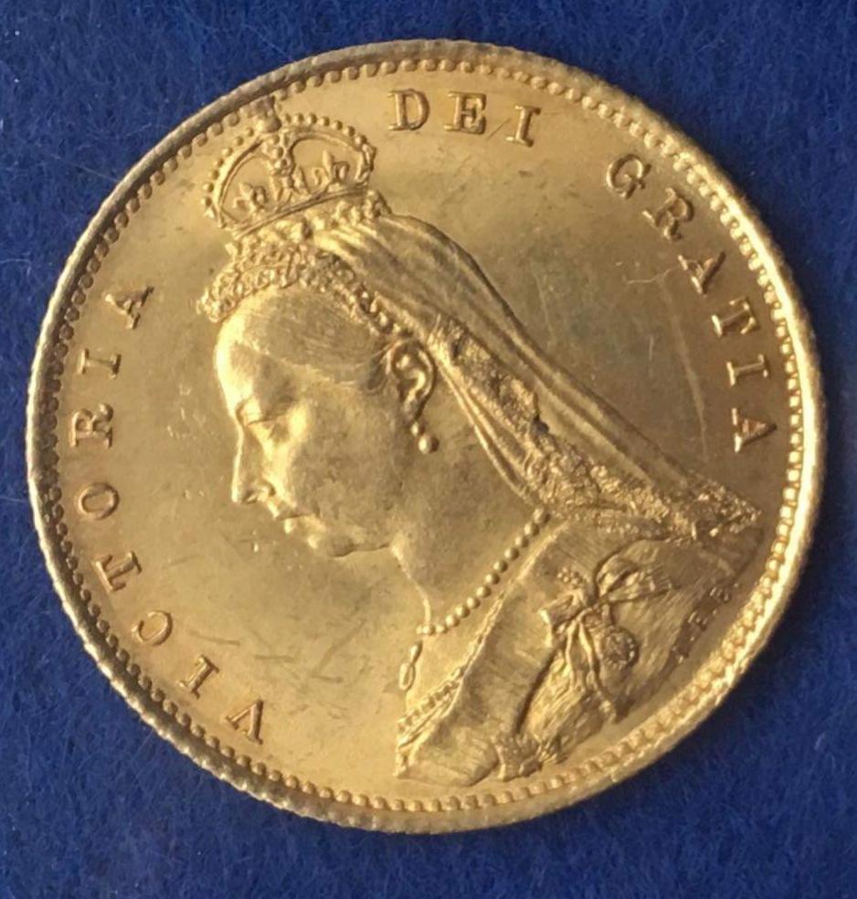1/2 libra soberana 1887 Reino Unido 20200619