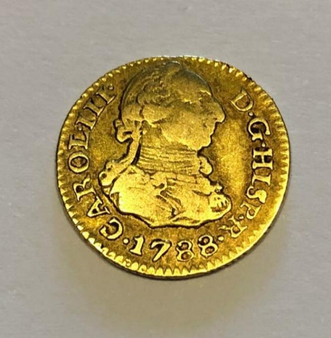 Duda con 1/2 escudo Carlos III 1788 20200620