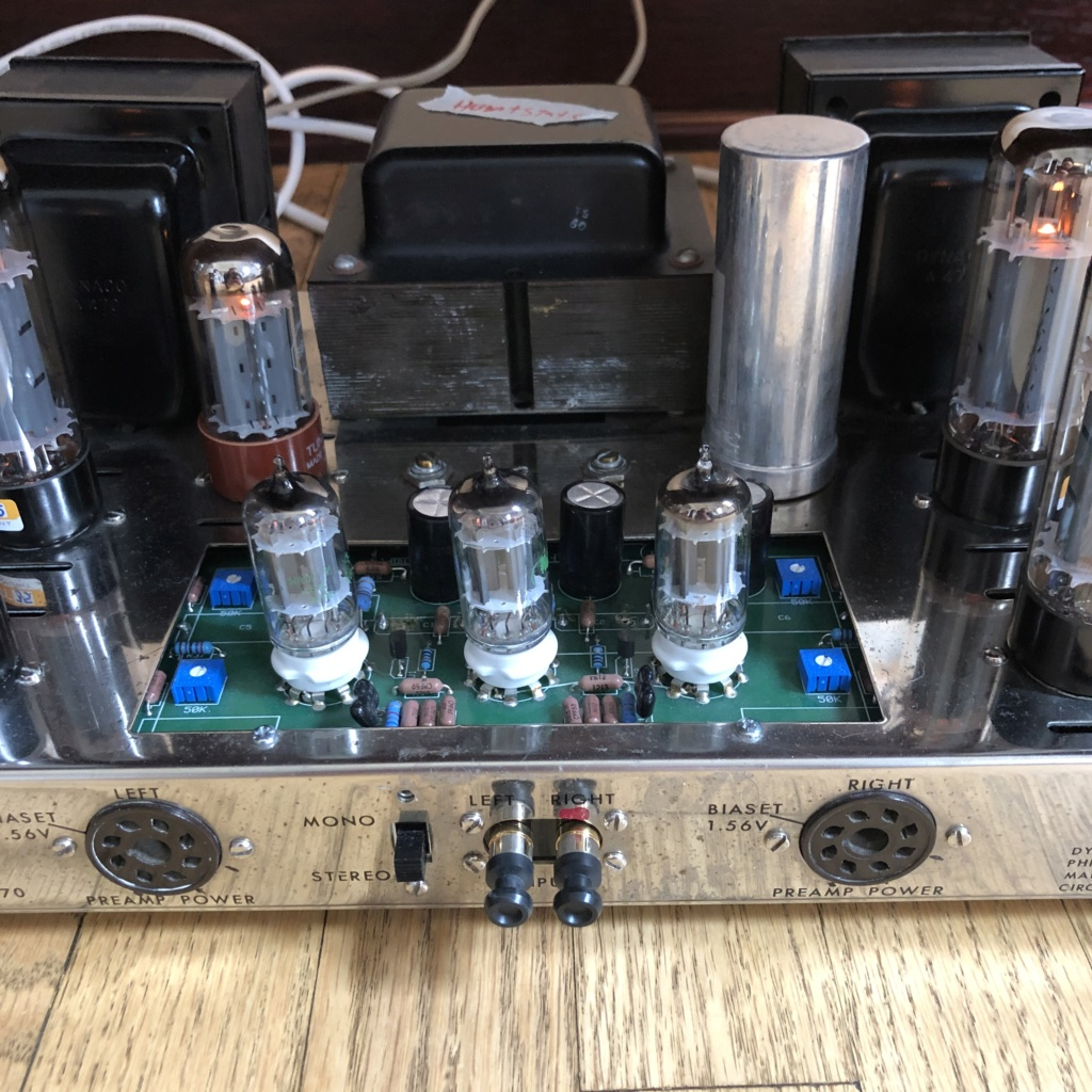 2x original Dynaco ST-70's with VTA board with continued issues after service 6377dd10