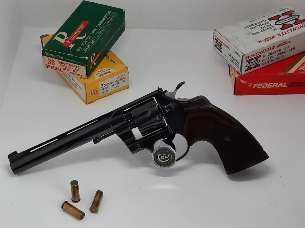 Sold elsewhere////Beautiful Colt Official police .38 wadcutter with rib and Sanderson grips 20210616