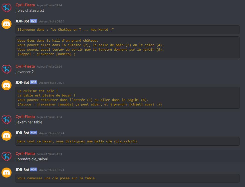 JDR-Bot, bot Discord pour jouer à des JDR textuels, Escape Game, Histoire dont vous êtes le héros. Jdr-bo10