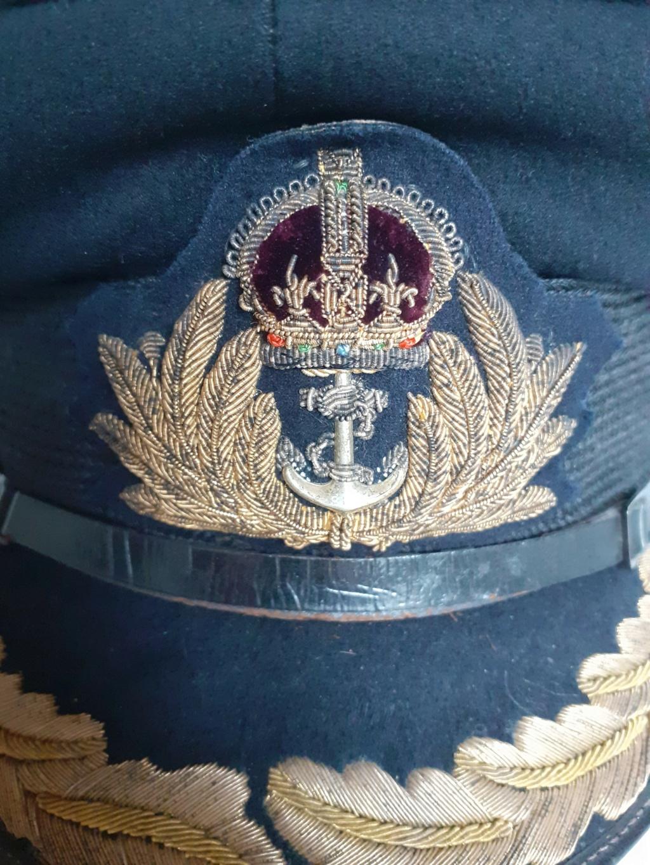 casquette officier Royal Navy WW2 20210111