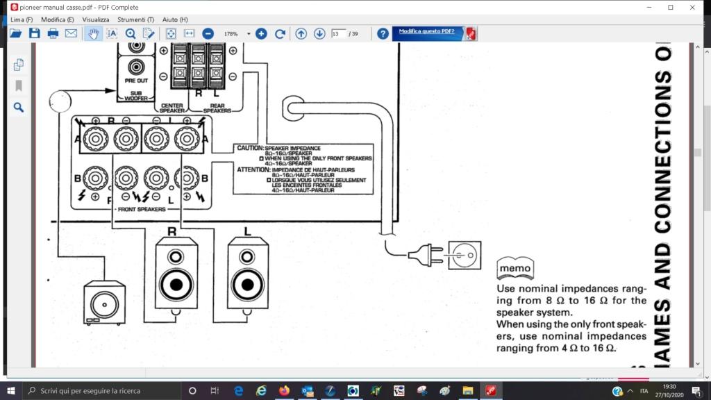 ampli Pioneer vsx708 rds collegamento diffusori mono Ampli_10