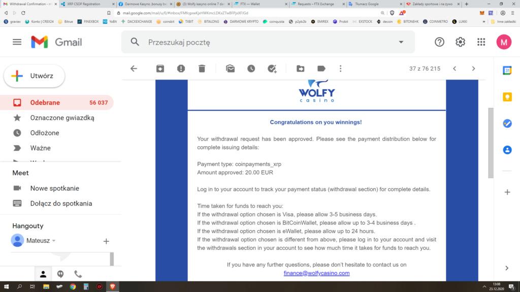 Wolfy kasyno - wypłaty i weryfikacja Bezety12