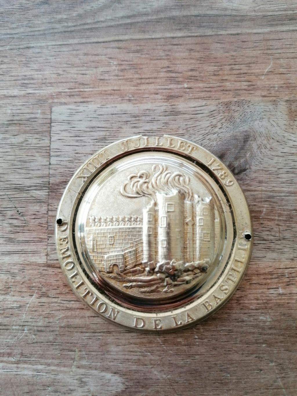 Medaille federation Martial de 1790 et plaque en laiton  Img_2066