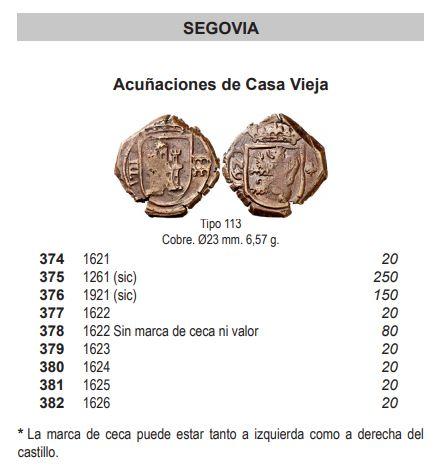 8 maravedís a martillo de Felipe IV de Segovia, resellados a VIII en 1641/2. Captur10
