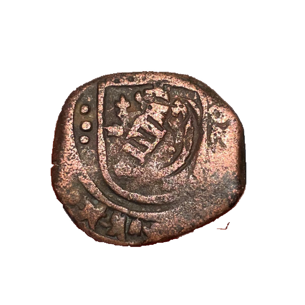 8 maravedís a martillo de Felipe IV de Segovia, resellados a VIII en 1641/2. Img_6112