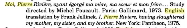 """""""Moi, Pierre Rivière, ayant égorgé ma mère , ma soeur et mon frère ..."""" - Page 2 Foucau11"""