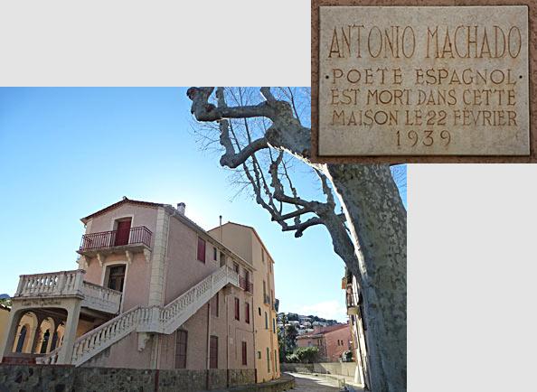 Collioure Port-Bou Machado Benjamin Plaque11
