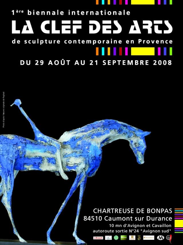 la clef des arts, biennale de sculpture. Affich10