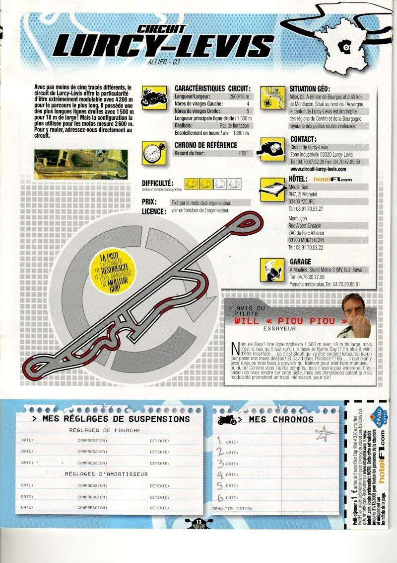 Guide des circuits Français (article Moto&Motards) Lurcy10