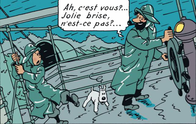 Le voilier bleu Tintin11