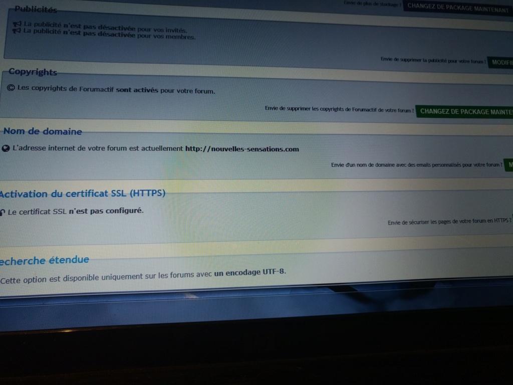 pas de nom de domaine personnalisé malgré le changement de package Forum_10