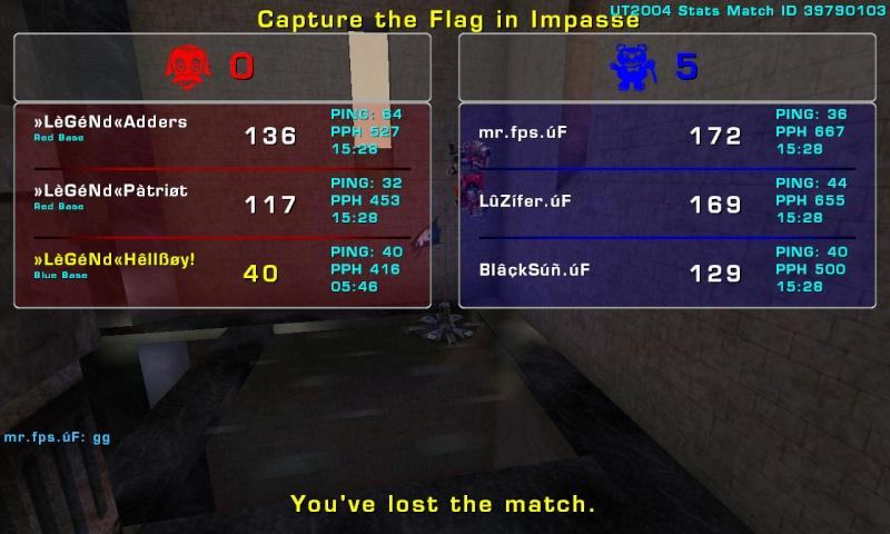 Match »LèGéNd« vs úF Tuesday 12 August 2008 20:00 hours (ladder 3 vs 3) Legend11