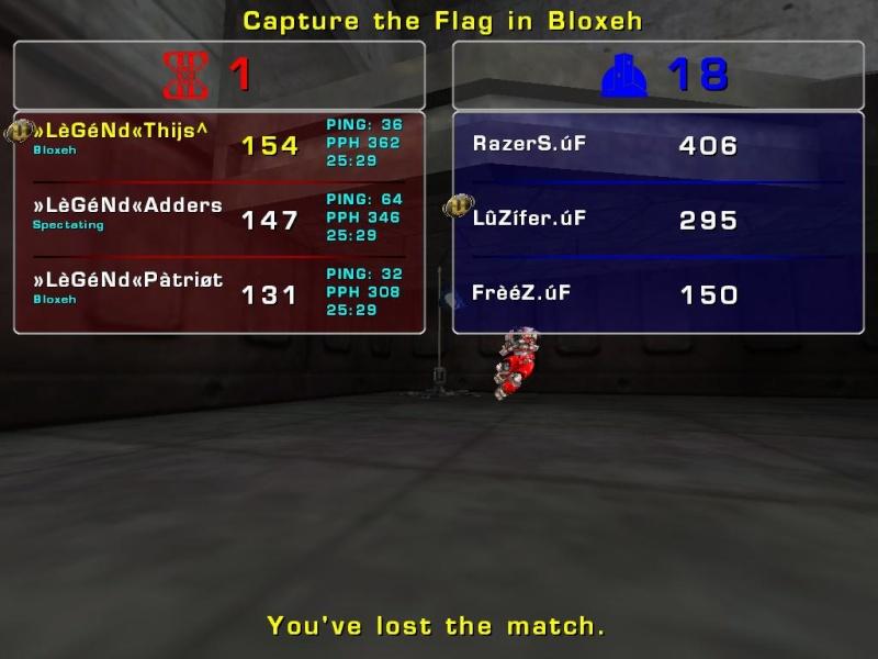 Match »LèGéNd« vs úF Tuesday 12 August 2008 20:00 hours (ladder 3 vs 3) Legend12