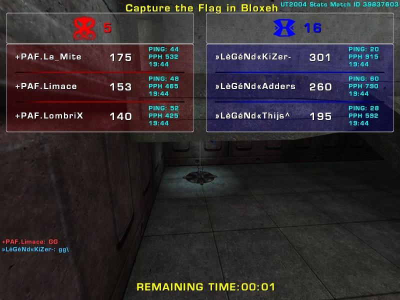 Match »LèGéNd« vs +PAF  Friday 15 August  2008 21:00 hours (ladder 3 vs 3) Legend15