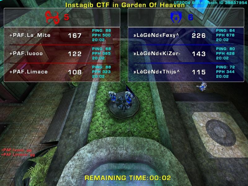 Match »LèGéNd« vs +PAF  Friday 15 August  2008 21:00 hours (ladder 3 vs 3) Legend16
