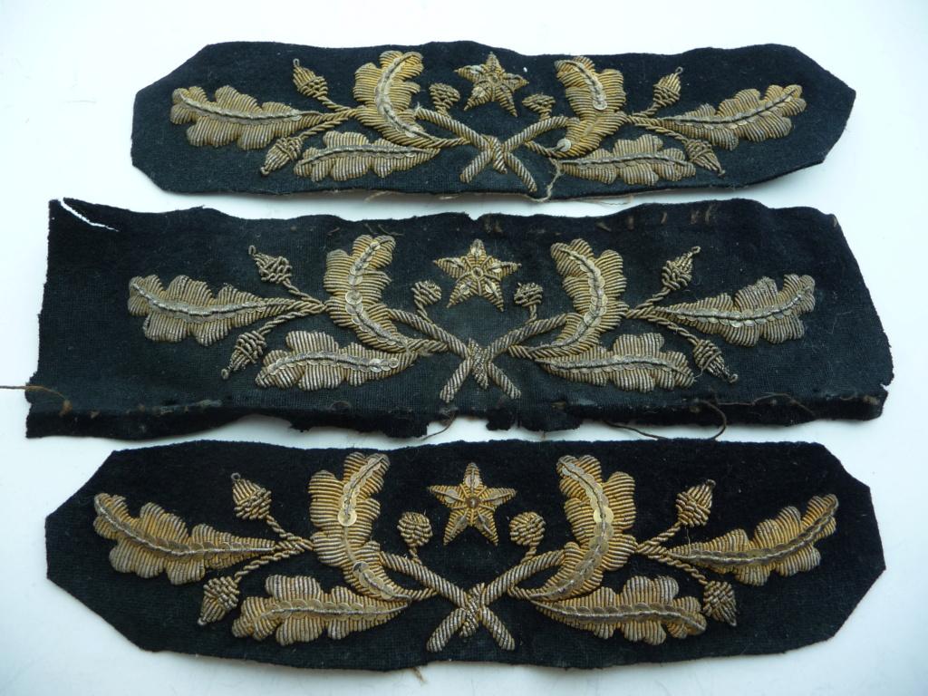 Broderies de képis, casquettes        feuilles de chene /glands  P1230726