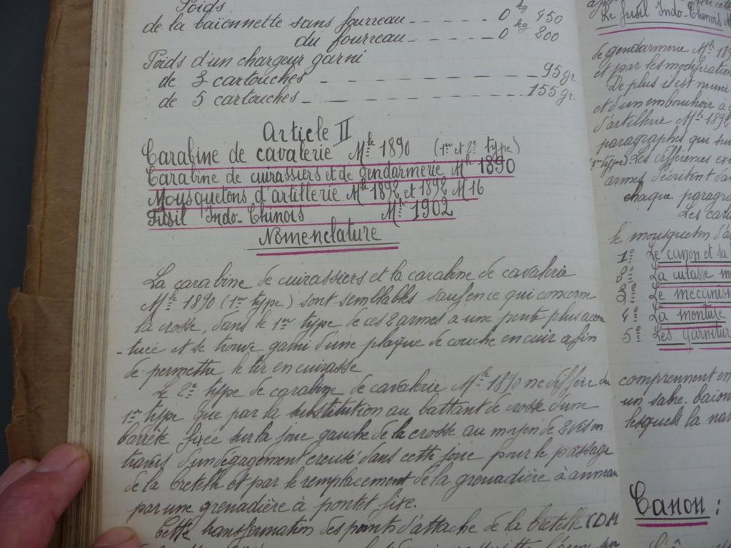 Cahier d'armement caporal Lambert du 32° RI!! P1240132