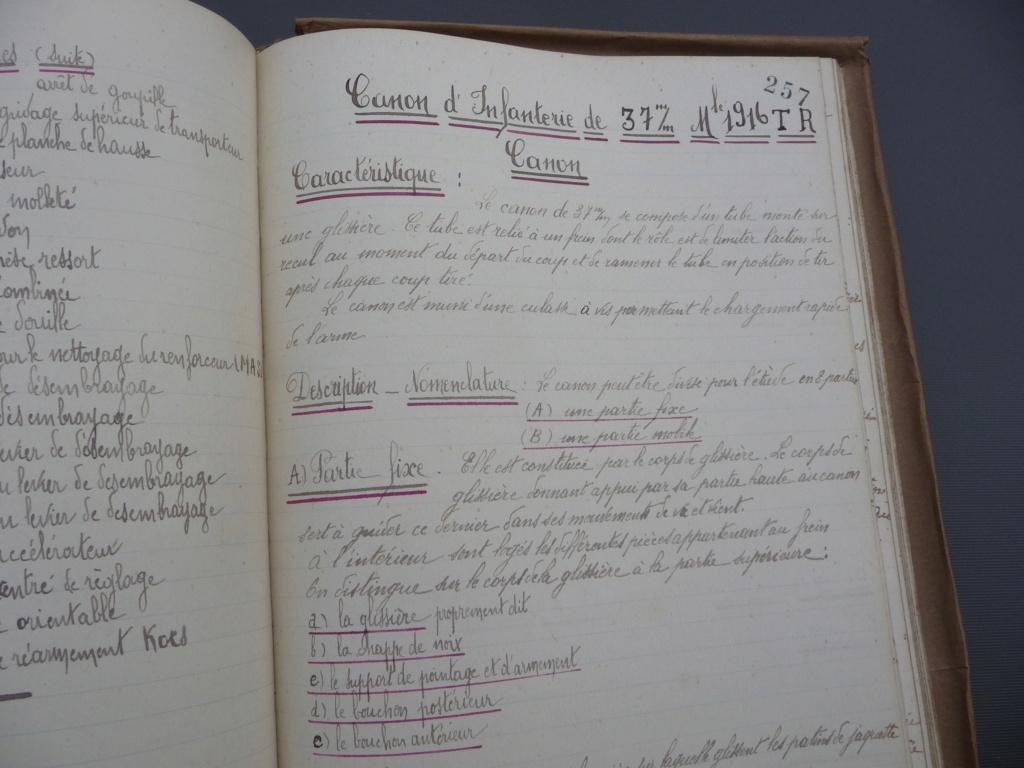 Cahier d'armement caporal Lambert du 32° RI!! P1240137