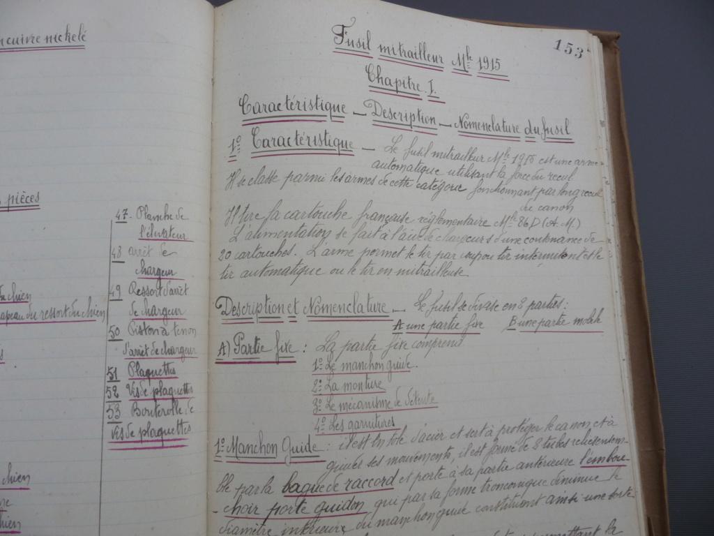 Cahier d'armement caporal Lambert du 32° RI!! P1240162