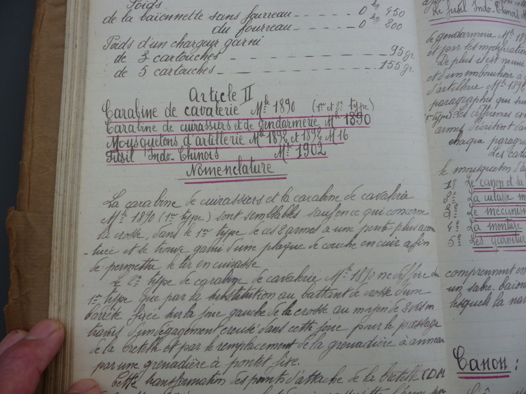 Cahier d'armement caporal Lambert du 32° RI!! P1240164