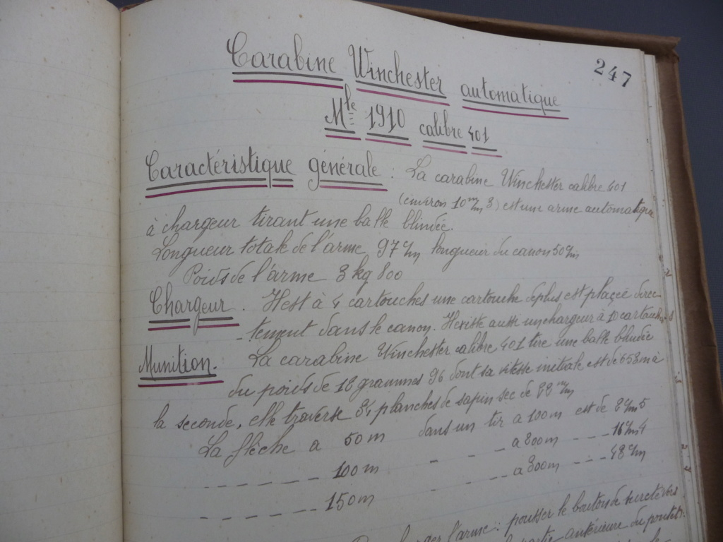 Cahier d'armement caporal Lambert du 32° RI!! P1240165