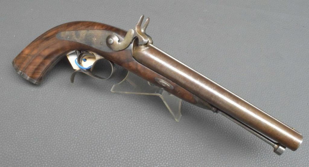 Pistolet double canon ,colonel de chasseurs à cheval????? Pistol10